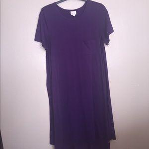 LuLaRoe Carly Dress, Large, Deep Purple, NEW!!